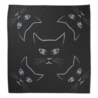 Cat's face bandana