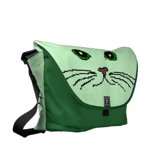 Cat's Face Messenger Bag