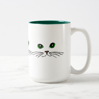 Cat's Face Two-Tone Coffee Mug