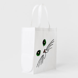 Cat's Face Reusable Grocery Bags