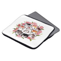 Cats Family Laptop Sleeve 13 inch