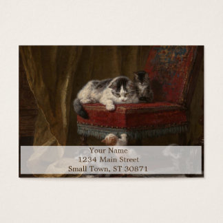Cats family painting business card