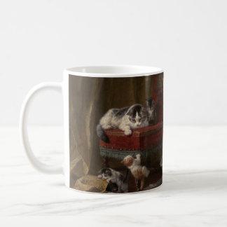 Cats family painting coffee mug