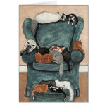 Cats Favorite Chair Card by BiHrle