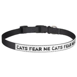 Cats Fear Me Pet Collars