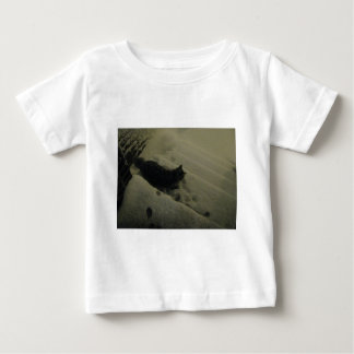 Cat's First Snow Baby T-Shirt
