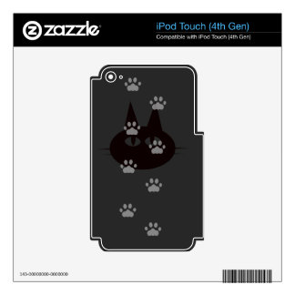 cats footprint decal for iPod touch 4G