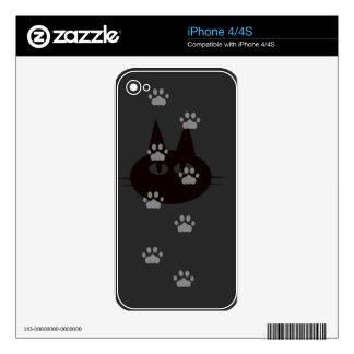 cats footprint iPhone 4 skins