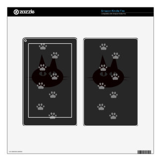 cats footprint kindle fire decals
