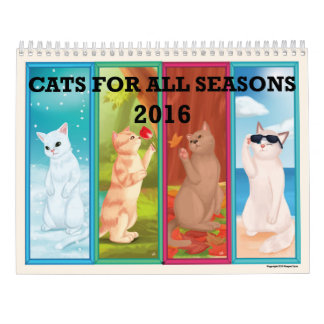 CATS FOR ALL SEASONS 2016 ILLUSTRATED CALENDAR