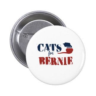 Cats for Bernie 2 Inch Round Button