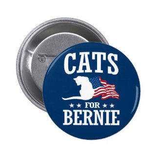 CATS FOR BERNIE SANDERS BUTTON
