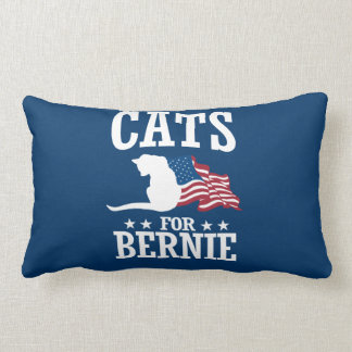 CATS FOR BERNIE SANDERS LUMBAR PILLOW