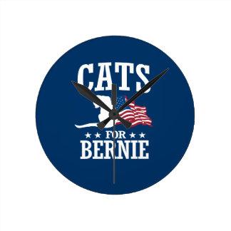 CATS FOR BERNIE SANDERS ROUND CLOCK