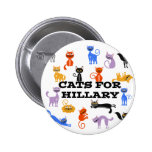 Cats for Hillary Campaign Button