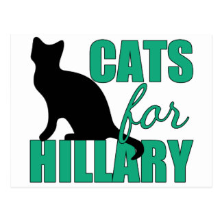 Cats for Hillary Postcard