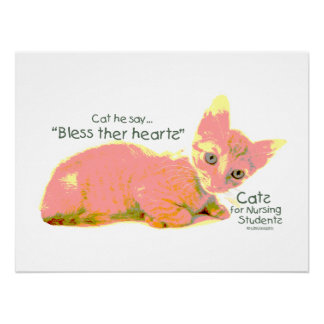 Cats for Nursing Students - Cat he Say Print