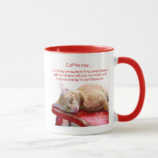 Cats for Nursing Students - Exhausted Mug