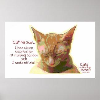 Cats for Nursing Students - Sleep Deprivation Print