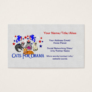 CATS FOR OBAMA BUSINESS CARD