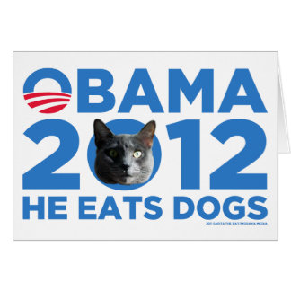 Cats For Obama Greeting Card