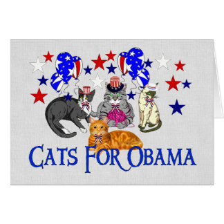 CATS FOR OBAMA CARD