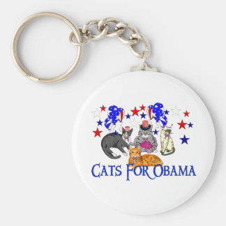 CATS FOR OBAMA KEYCHAIN