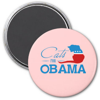 Cats for Obama - 3 Inch Round Magnet