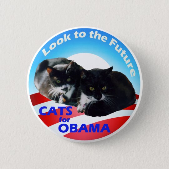 Cats For Obama Pinback Button