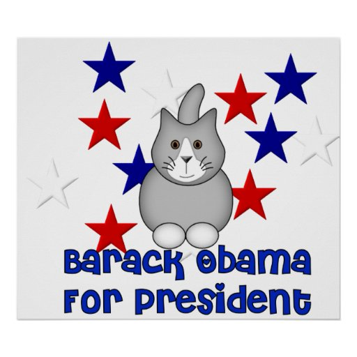 Cats For Obama Poster