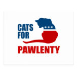 CATS FOR PAWLENTY POSTCARD