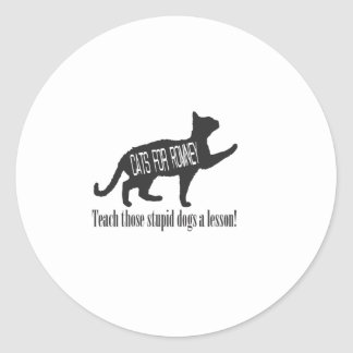 Cats For Romney Classic Round Sticker
