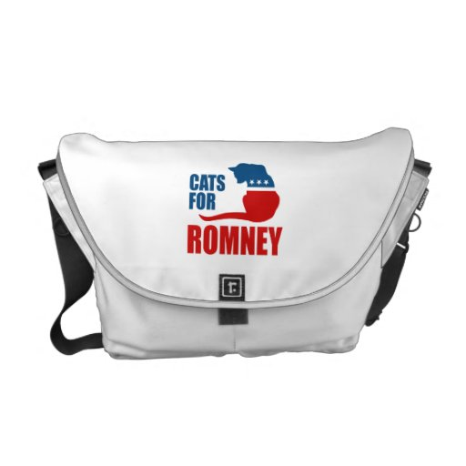 CATS FOR ROMNEY.png Commuter Bag