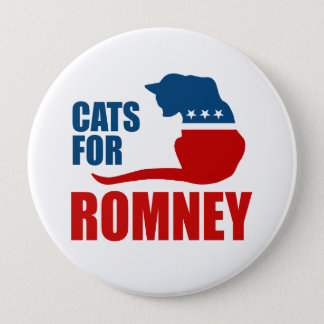 CATS FOR ROMNEY.png Pinback Button