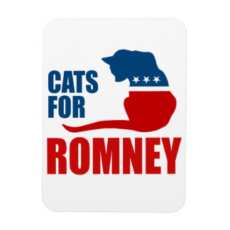 CATS FOR ROMNEY.png Rectangular Photo Magnet