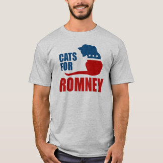 CATS FOR ROMNEY.png T-Shirt
