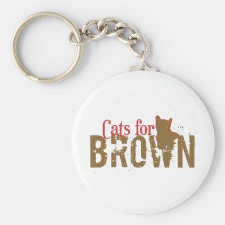 Cats for Scott Brown - Vote New Hampshire Senate Keychain