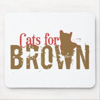 Cats for Scott Brown - Vote New Hampshire Senate Mouse Pad