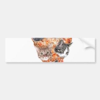 Cats For the Pizza-Lover Bumper Sticker