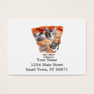 Cats For the Pizza-Lover Business Card
