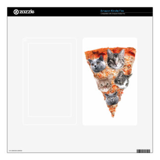 Cats For the Pizza-Lover Kindle Fire Decal