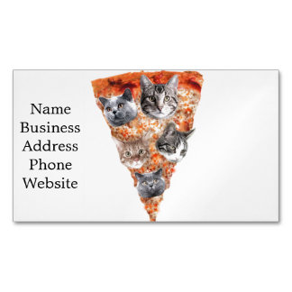 Cats For the Pizza-Lover Magnetic Business Card