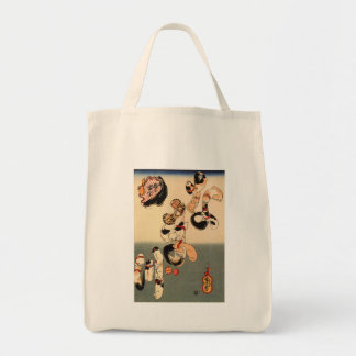 Cats Forming the Characters for Catfish Canvas Bag