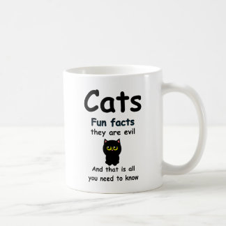 Cats Fun Facts They're Evil Coffee Mug