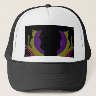 Cats Funky Double Image BallCap Hat CricketDiane