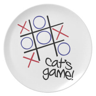 Cat's Game Party Plate