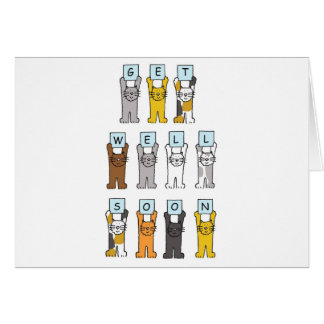 Cats get well soon. cards
