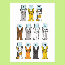 Cats get well soon. postcard
