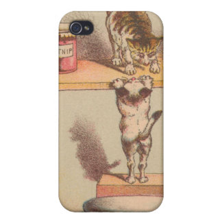 Cats Getting Into Catnip Vintage iphone Case