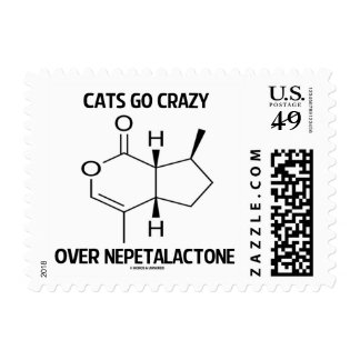 Cats Go Crazy Over Nepetalactone Cat Attitude Postage Stamp